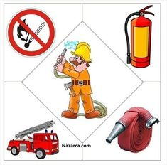 Firefighter and fire safety crafts for kids Preschool Jobs, Community Helpers Preschool, Preschool Education, Preschool Worksheets, Preschool Learning, Preschool Activities, Fire Safety Crafts, Community Workers, Puzzles For Kids