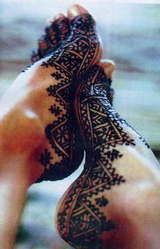 Tatouage au henné marocain