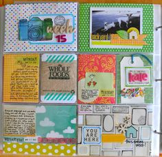 "Project Life: cute way to document ""the little things"" #scrapbook #layout #crafty"
