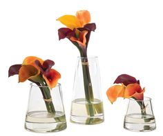 Natural Decorations, Inc. - Calla Lily | Glass Pyramid | Apricot Rust Chocolate