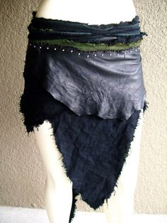 Fighter's Wrap Skirt burning man tribal by ArchaicLeatherworks, $140.00