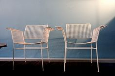 Wire garden chair by Mauser (Germany) from the fifties; garden furniture - available