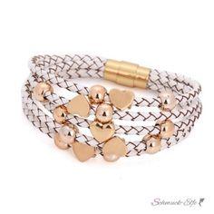 ECHT Lederarmband weiß Herzen  Edelstahl Perlen mit... @EasiestFun @ezpopsy #follower #following #Accessories #Jewelry #Crafts #Necklace #style #Fashionwomen #women #2016 #girls #sexy