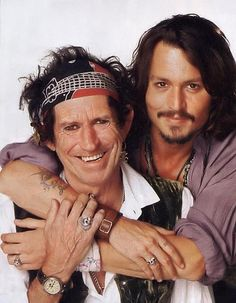 Keith Richards & Johnny Deep