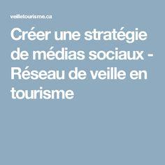 Créer une stratégie de médias sociaux - Réseau de veille en tourisme
