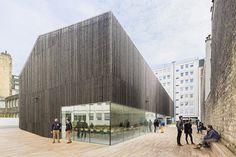 AZC atelier zundel cristea urban barn descartes university lecture theaters paris designboom