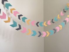 Arrow Head Garland Tribal Baby Shower Decoration Aztec Baby Shower Arrows Birthday Party Decor Chevron Garland Tribal Birthday CUSTOM COLORS