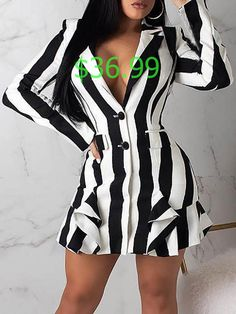 Blazer Dress, Sleeve Styles, Color Blocking, Ruffles, Party Dress, Cover Up, V Neck, Fashion Trends, Style Fashion
