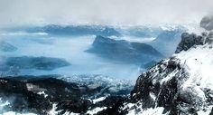 View from Mt. Pilatus - Lucerne, Switzerland