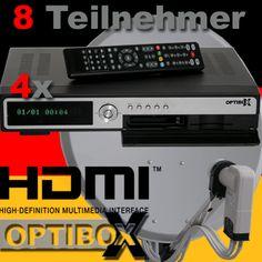 Deutsche Satelliten Fernsehen :: HDTV Optibox 2CICX 8x acht Teilnehmer Anlage