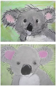The Rolling Artroom: Pastel Koala Bears Grade) Kindergarten Art Lessons, Art Lessons Elementary, Classroom Art Projects, Art Classroom, First Grade Art, Grade 3 Art, Primary School Art, Animal Art Projects, Jr Art