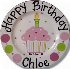 Totally need to do this at Paintbrush Pottery for Emma and Ryder!  sc 1 st  Pinterest : personalized ceramic plate - pezcame.com