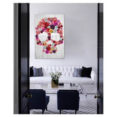 Skull of Roses Canvas Print