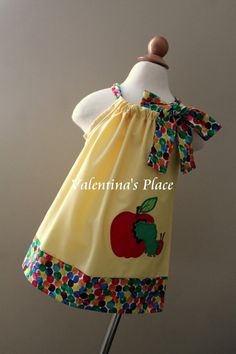 Super Cute The Very Hungry Caterpillar apple pillowcase dress on Etsy, $29.00