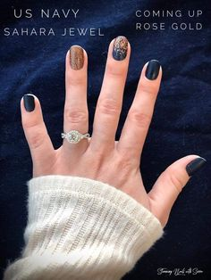 Combine sets to make your very own! Beautiful nails have never been so easy. Zero dry time, easy to apply and last up to days! Navy Nails, Gold Nails, Pink Nails, Glitter Nails, Copper Nails, Black Nails, Nail Color Combos, Nail Colors, Cute Nails