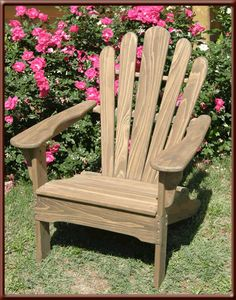 "Lake Cypress Outdoor Products - Classic Adirondack Chair 26.25"" W x 32"" D x 40"" H     • Seat height - 14.5""     • Dark brown wood     • Weather resistant hardwoods     • Max weight capacity 350 lb.     • Assembly required"
