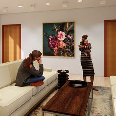Artwork Floral Revit Family, Model Shop, Floral Design, Texture, Wall, Artwork, Home Decor, Surface Finish, Work Of Art