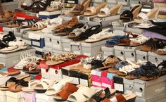 "Poggioreale Market – Naples Shoe Alley.  Much gratitude to Francesca for introducing us to ""Shoe Alley"""