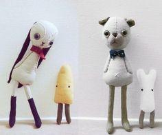 A cute match - Arisa doll / Pinkoi http://knuffelsalacarteblog.blogspot.nl/
