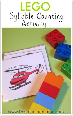 Counting Syllables with LEGO Bricks ~ with an extension activity for connecting syllables to reading and writing | This Reading Mama