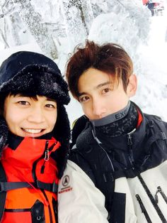 TVXQ! MAX and SHINee MINHO welcomed the new year together at Halla Mountain.