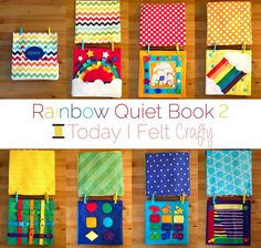 Rainbow Quiet Book 2 by Today I Felt Crafty