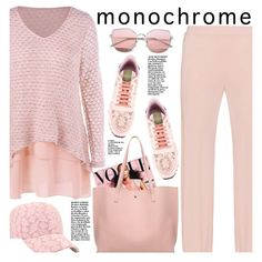 a8fb77ba05f A fashion look from May 2017 by beebeely-look featuring Valentino, casual,  monochrome, sammydress y monochromepink