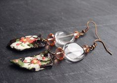 Clear Sakura Cherry Blossom earrings / Spring by CocoFlowerShop