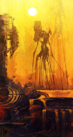 Junk Striders on Scrapworld - cobaltplasma