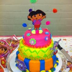 Dora Birthday cake...buttercream. Not Fondant
