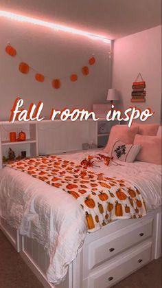 Fall Bedroom Decor, Room Design Bedroom, Room Ideas Bedroom, Fall Home Decor, Bedroom Inspo, Cute Room Decor, Teen Room Decor, Halloween Room Decor, Halloween House