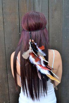 Hippie Feather Headband