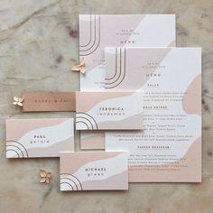 Modern Wedding Paper Goods with gold foil and warm neutral color palette Logo Design, Brochure Design, Print Design, Branding Design, Identity Branding, Visual Identity, Design Design, Corporate Identity, Cover Design
