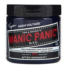 Manic Panic Classic Cream Hair Dye, After Midnight Blue at I Kick Shins