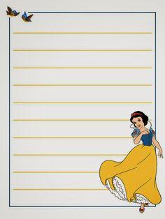 Snow White: Free Printable Notebook.