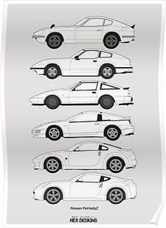 1993 Nissan 300 ZX #9 Vintage Car Poster Print Wall Art Sign Auto Garage Banner