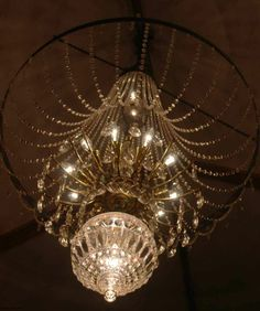 The stunning chandelier at a thoughtfully converted barn in Mullion.