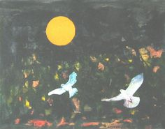 E. Besozzi pitt. 1976 Il ritorno tecnica mista e collages su cartoncino cm. 24x31 arc. 1023