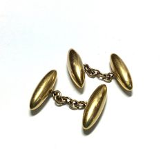 Victorian gold torpedo form cufflinks in gold, these cufflinks have a wonderful rich colour and good weight, stamped 6 grams, boxed Antique Bracelets, Antique Necklace, Antique Jewellery, Vintage Jewelry, Wire Jewelry, Jewelry Gifts, Antique Cufflinks, Antique Brooches, Victorian Gold