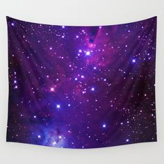Cosmic Skull Background Wall Tapestry