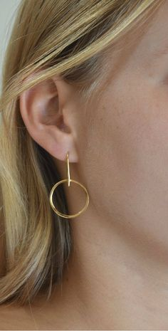 12 Pair Gold Assorted Sizes Hoop Earring Craft Findings Quick Shipping USA