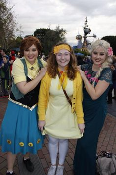 Dapper Day Honey Lemon and Frozen Fever Anna and Elsa Disney Bound Outfits, Dapper Day, Honey Lemon, Disneybound, Elsa, Frozen, Cosplay, Inspiration, Style