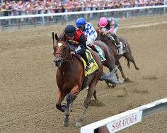 Green Lantern Stables' homebred A. P. Indian continued his upward trajectory July 30, 2016 with a game victory in the $350,000 Alfred G. Vanderbilt Handicap (gr. I) at Saratoga Race Course.