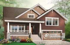 Discover the plan 3441 - Briardale from the Drummond House Plans house collection. Craftsman style home plan, 3 to 4 beds, master suite on main floor, open floor plan, two car garage. Total living area of 2309 sqft. Craftsman Style Bungalow, Bungalow House Plans, Craftsman House Plans, House Floor Plans, Bungalow Homes, Modern Bungalow, Style At Home, Split Level Floor Plans, Grand Chalet