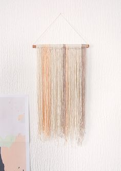 Pastel Yarn Wall Hanging
