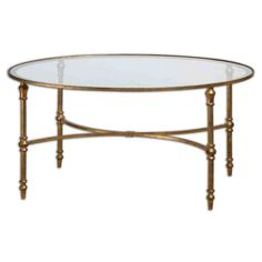 Accent Furniture Vitya Glass Coffee Table by Uttermost at Becker Furniture World Oval Glass Coffee Table, Iron Coffee Table, Glass Tables, Accent Furniture, Table Furniture, Office Furniture, House Furniture, Modern Furniture, Furniture Stores