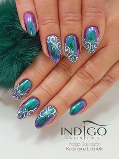 MetalManix Butterfly by Kasia Leśniak, Indigo Educator #nails #nail #nailsart #indigonails #indigo #hotnails #summernails #springnails #omgnails #amazingnails #effectnails #metalmanix #metalnails #mirrornails #magicnails