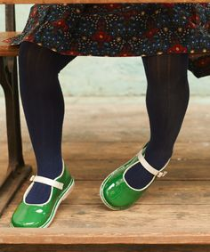 Little Bird Green and White Shoes