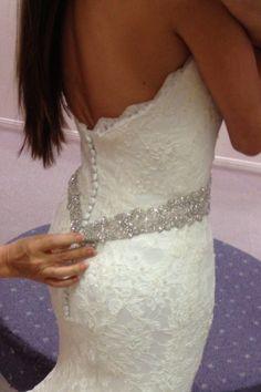 Augusta Jones Jessie - My Dress! :  wedding alterations augusta jones augusta jones jessie beaded cream dress ivory lace IMG 8242