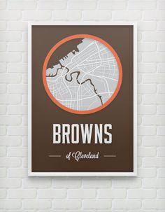 Cleveland Browns Print by DesignsByEJB on Etsy, $20.00